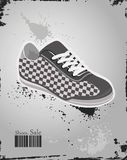 Sport shoes, sneakers on  grey background Royalty Free Stock Image