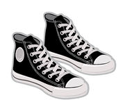 Sport shoes, sneakers. Vector illustration Royalty Free Stock Images