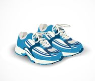Sport shoes, sneakers. Vector illustration Royalty Free Stock Photography