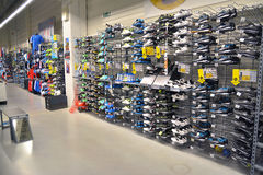 Sport shoes store Stock Images