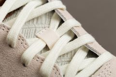 Sport shoes with white laces stock photography