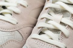 Sport shoes with white laces royalty free stock image