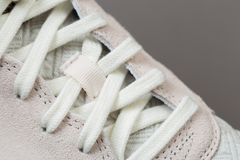 Sport shoes with white laces royalty free stock photo