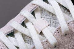Sport shoes with white laces royalty free stock photography