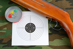 Sport shooting equipment Stock Images