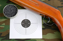 Sport shooting equipment Royalty Free Stock Photos