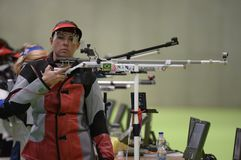 Sport shooting. Rio de Janeiro-Brazil, Event sport shooting test for the Olympic Games stock image