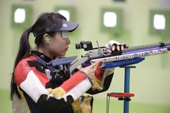 Sport shooting. Rio de Janeiro-Brazil, Event sport shooting test for the Olympic Games royalty free stock images