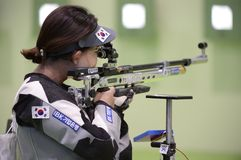 Sport shooting. Rio de Janeiro-Brazil, Event sport shooting test for the Olympic Games royalty free stock photography
