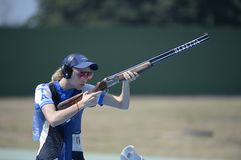 Sport shooting. Rio de Janeiro-Brazil, Event sport shooting test for the 2016 Olympic Games stock photography
