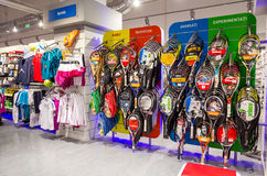Sport shop. Shop with sports articles and clothing inside Ploiesti Shopping City,commercial center in Ploiesti city,Romania Stock Photography