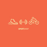 Sport shop banner Royalty Free Stock Image