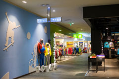 Sport shop. The picture show  interior of a sport shop in China Royalty Free Stock Photo
