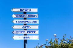 Signs Sports Directions Royalty Free Stock Photography