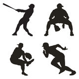 Sport silhouette. Various man sport silhouettes in black Stock Photo