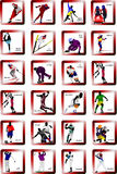 Sport silhouette icons Royalty Free Stock Photos