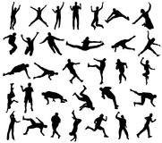 Sport silhouettes Royalty Free Stock Image