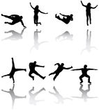 Sport Silhouettes Stock Images