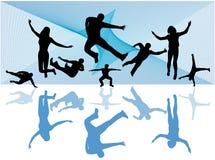 Sport silhouettes Stock Photo