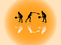 Sport silhouettes Royalty Free Stock Images