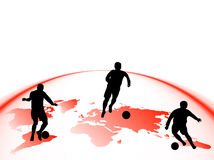 Sport silhouettes Stock Image