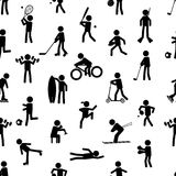 Sport silhouettes black simple icons Royalty Free Stock Photos
