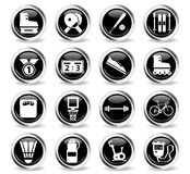 Sport simply icons Royalty Free Stock Image