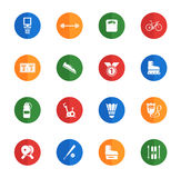 Sport simply icons. Sport vector icons for web sites and user interface Stock Images