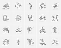 Sport sketch icon set. Royalty Free Stock Photo