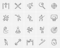 Sport sketch icon set. Royalty Free Stock Image