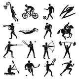 Sport Sketch People Set Royalty Free Stock Images