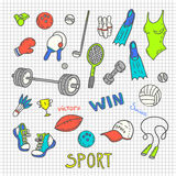 Sport sketches Royalty Free Stock Photo