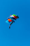 Sport skydivers perform during the figure jumps Stock Image