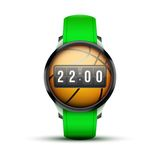 Sport Smart watch with time and basketball ball Stock Images