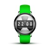 Sport Smart watch with time and football ball Royalty Free Stock Photo