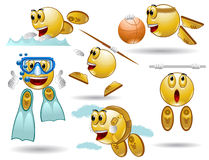 Sport smile character Stock Photography
