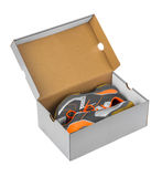Sport sneakers in box Stock Image