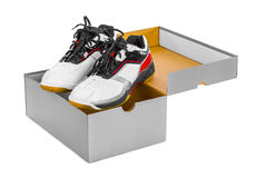 Sport sneakers in box Stock Photography