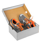 Sport sneakers in box Royalty Free Stock Photos