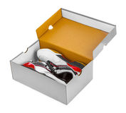 Sport sneakers in box Royalty Free Stock Images
