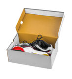 Sport sneakers in box Royalty Free Stock Photo