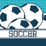 Sport soccer balls Royalty Free Stock Photography
