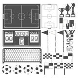 Sport-Soccer-Equipment black Royalty Free Stock Photos