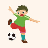 Sport soccer player theme elements vector,eps Royalty Free Stock Photos