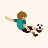 Sport soccer player theme elements vector,eps Stock Photo