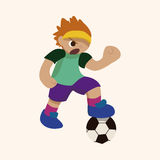Sport soccer player theme elements vector,eps Stock Image
