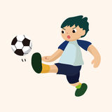 Sport soccer player theme elements vector,eps Stock Photography