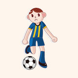 Sport soccer player theme elements vector,eps. Vector illustration file Stock Images