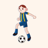Sport soccer player theme elements vector,eps. Vector illustration file Stock Photography