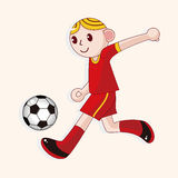 Sport soccer player theme elements vector,eps. Vector illustration file Royalty Free Stock Photography